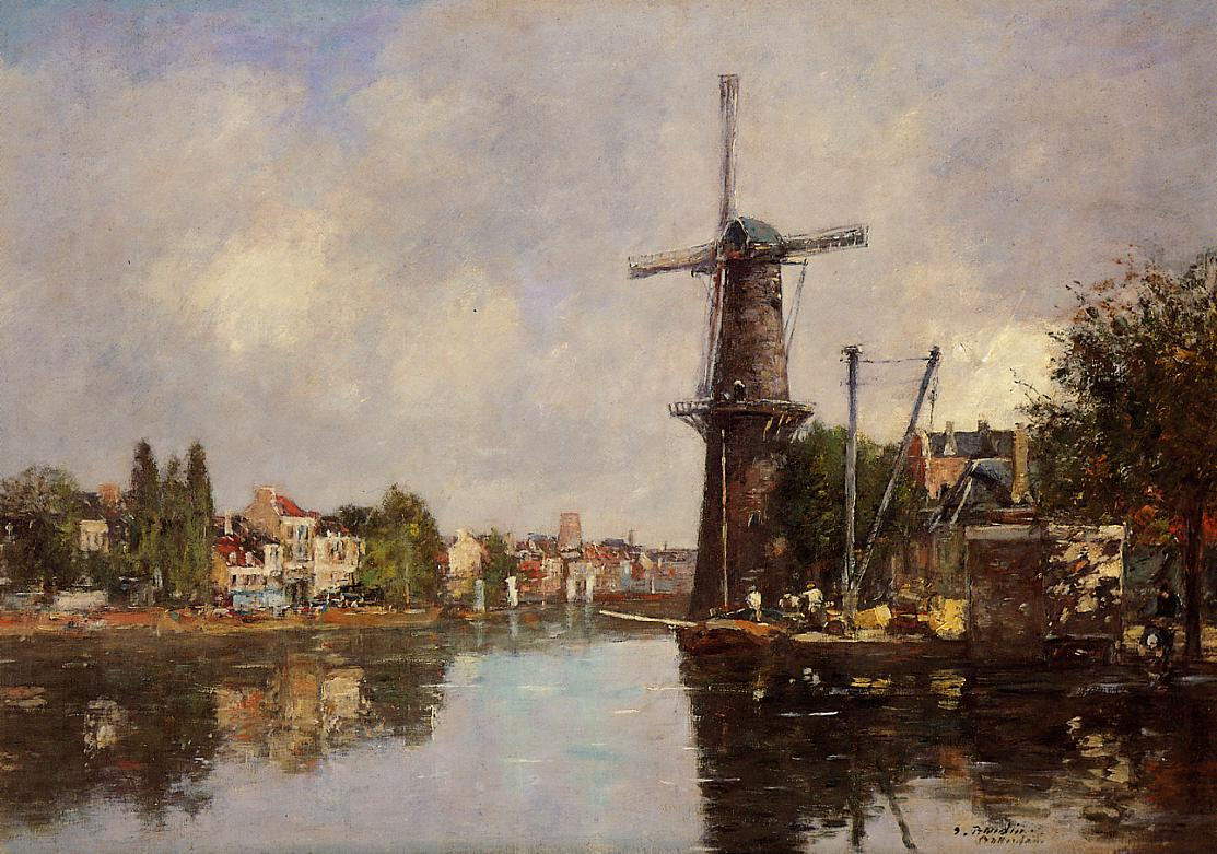 View of Rotterdam 1876-1880 | Eugene Louis Boudin | Oil Painting