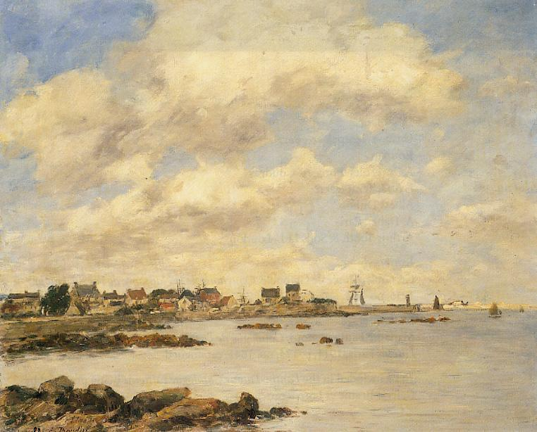 View of Saint-Vaast-La-Houghe 1892 | Eugene Louis Boudin | Oil Painting
