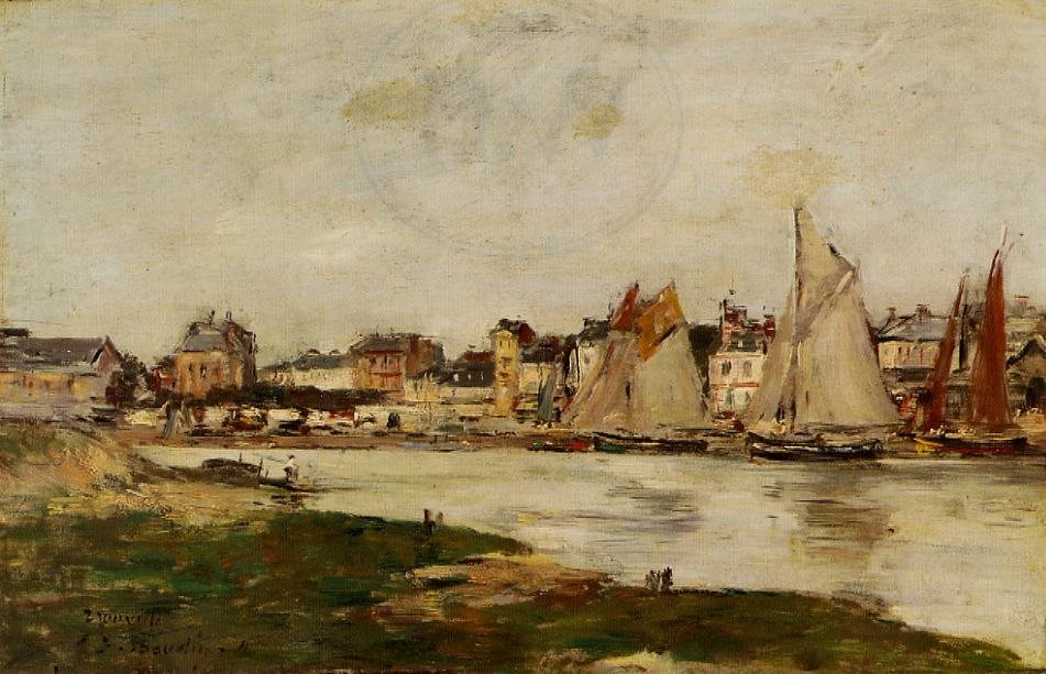 View of the Port of Trouville High Tide 1894 | Eugene Louis Boudin | Oil Painting