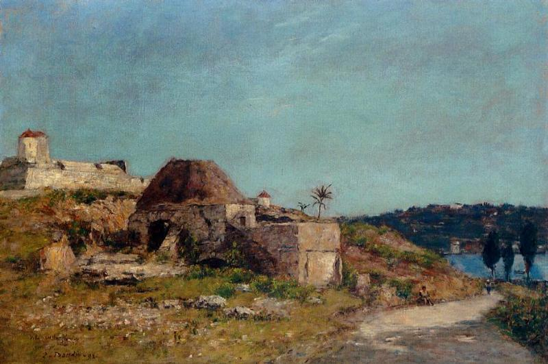 Villefranche the Citadel 1892 | Eugene Louis Boudin | Oil Painting