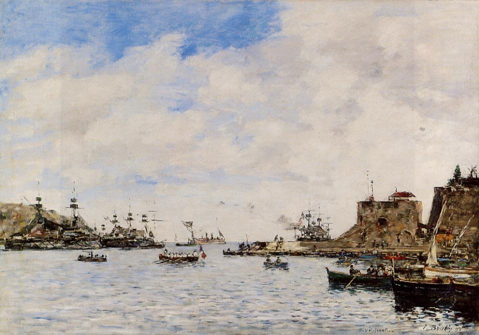 Villefranche the Harbor 1892 | Eugene Louis Boudin | Oil Painting