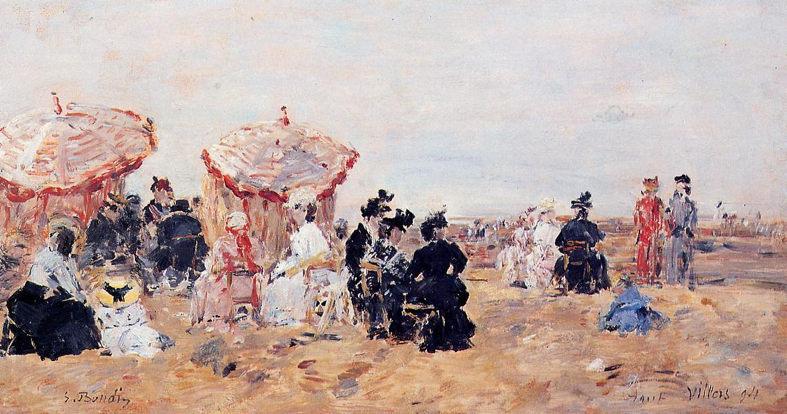 Villers Beach Scene 1894 | Eugene Louis Boudin | Oil Painting