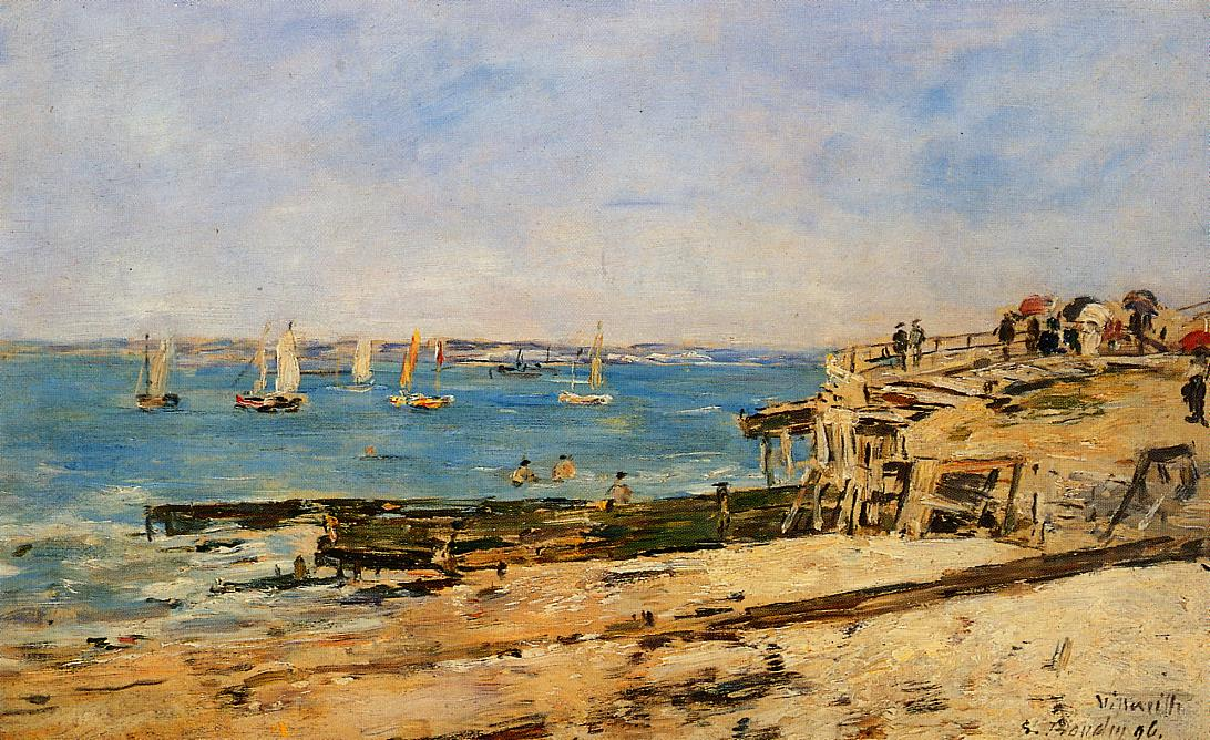 Villerville the Shore 1896 | Eugene Louis Boudin | Oil Painting