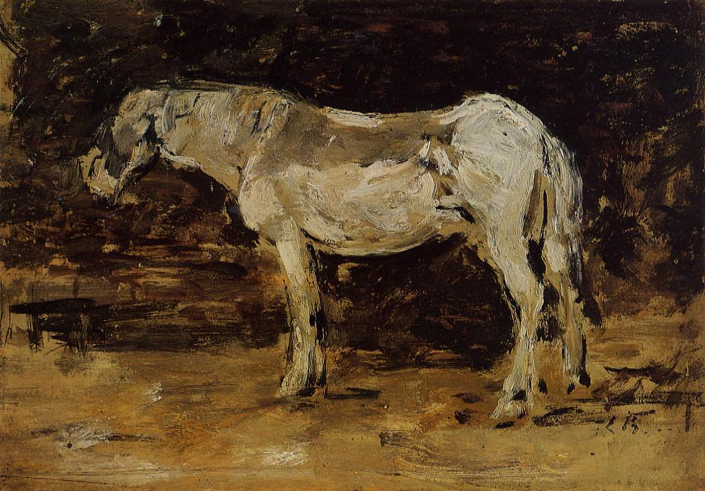 White Horse 1885-1890 | Eugene Louis Boudin | Oil Painting
