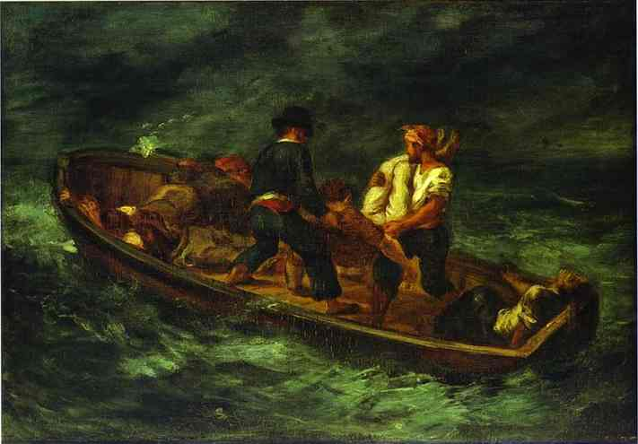 After The Shipwreck 1847 | Eugene Delacroix | Oil Painting