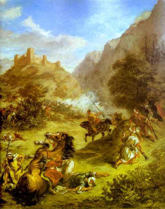 Arabs Skirmishing In The Mountains 1863 | Eugene Delacroix | Oil Painting