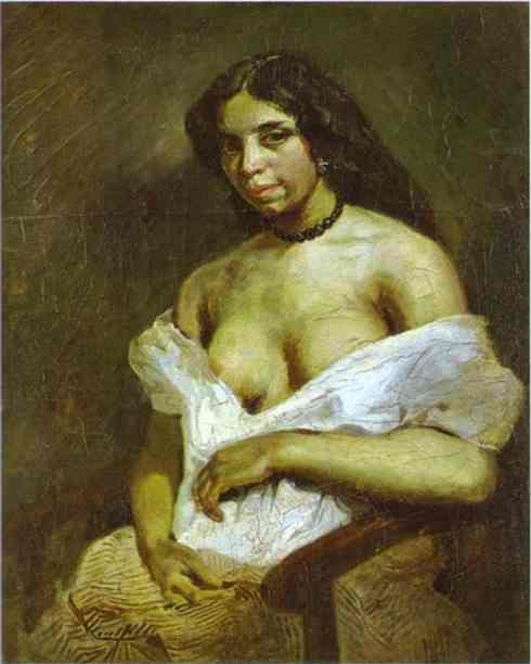 Aspasia 1824 | Eugene Delacroix | Oil Painting