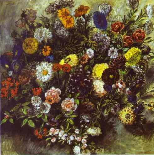 Bouquet Of Flowers 1849-1850 | Eugene Delacroix | Oil Painting