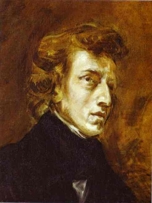 Frederic Chopin (Unfinished) 1838 | Eugene Delacroix | Oil Painting