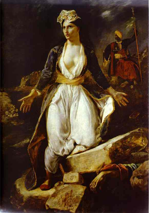 Greece On The Ruins Of Missolonghi 1826 | Eugene Delacroix | Oil Painting