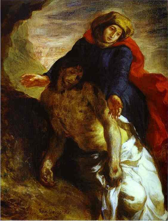 Pieta 1850 | Eugene Delacroix | Oil Painting