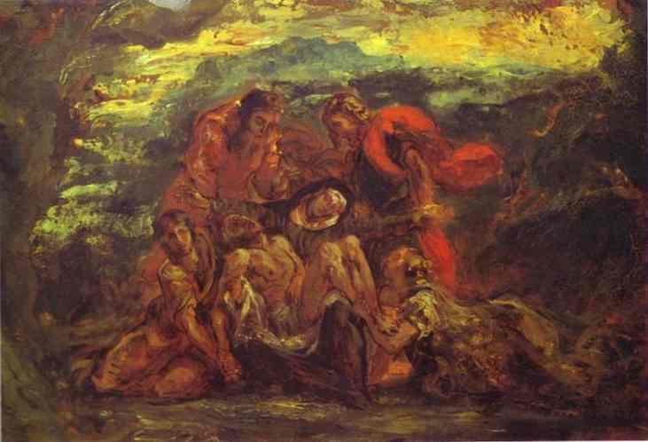Pieta Sketch 1840-1844 | Eugene Delacroix | Oil Painting