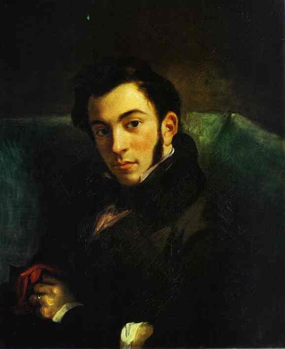 Portrait Of Frederic Villot 1832 | Eugene Delacroix | Oil Painting