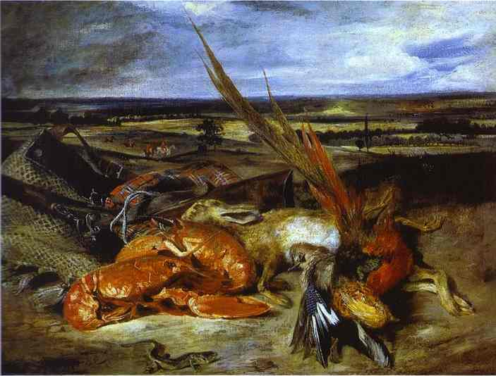 Still Life With Lobsters 1826-1827 | Eugene Delacroix | Oil Painting