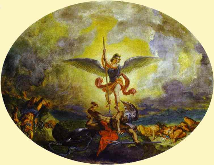 St Michael Defeats The Devil 1854-1861 | Eugene Delacroix | Oil Painting