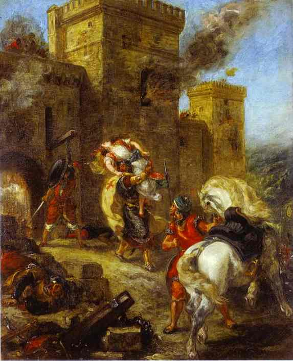 The Abduction Of Rebecca 1858 | Eugene Delacroix | Oil Painting