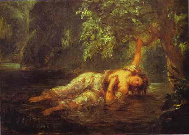 The Death Of Ophelia | Eugene Delacroix | Oil Painting