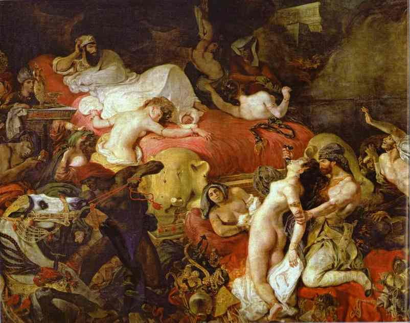 The Death Of Sardanapalus 1827-1828 | Eugene Delacroix | Oil Painting