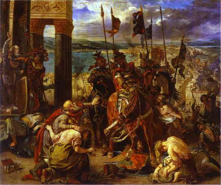 The Entry Of The Crusaders Into Constantinople 1840 | Eugene Delacroix | Oil Painting