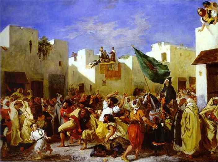 The Fanatics Of Tangier 1837-1838 | Eugene Delacroix | Oil Painting