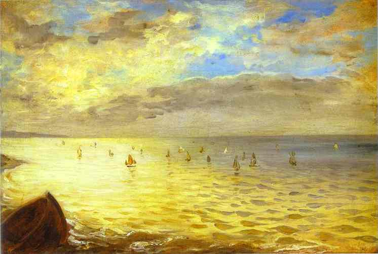 The Sea From The Heights Of Dieppe 1852 | Eugene Delacroix | Oil Painting