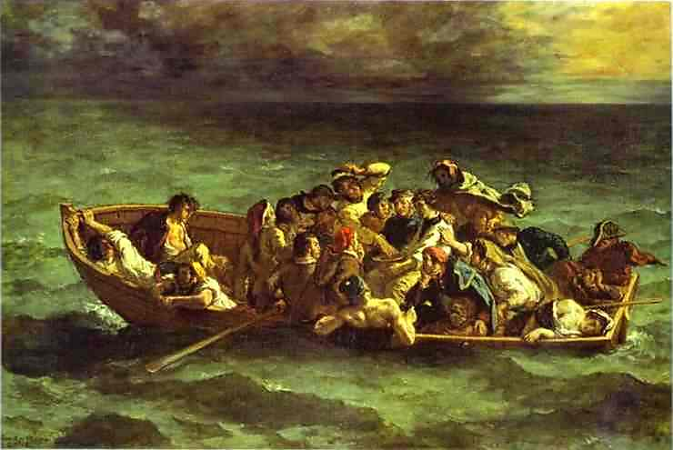 The Shipwreck Of Don Juan 1840 | Eugene Delacroix | Oil Painting