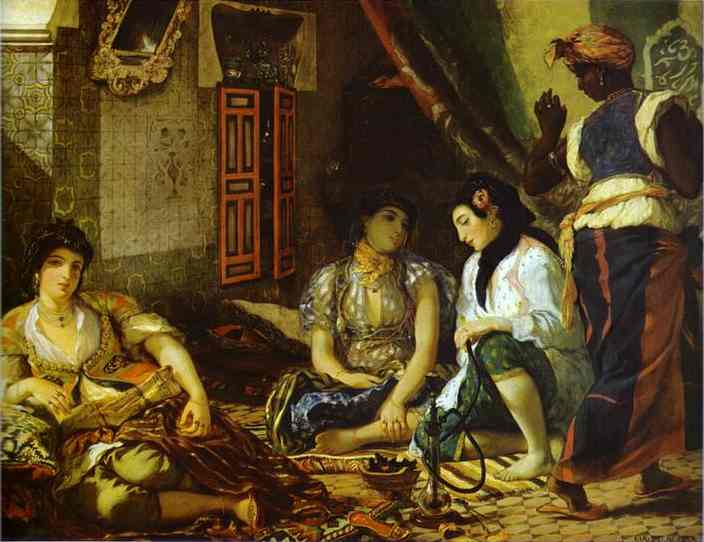 Women Of Algiers In Their Apartment 1834 | Eugene Delacroix | Oil Painting