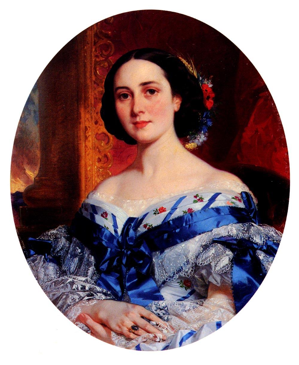 Portrait De Marie-Lucie | Eugene Francois Marie Joseph Deveria | Oil Painting