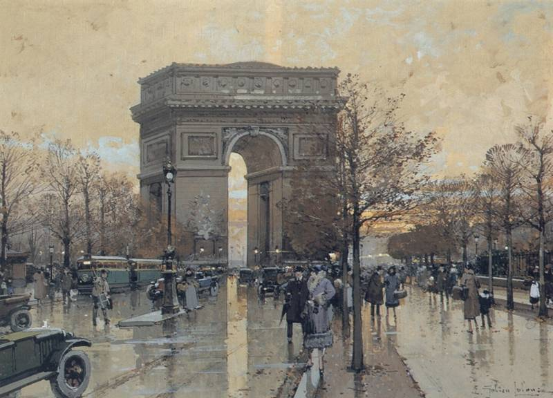 The Arc de Triomphe Paris | Eugene Galien-Laloue | Oil Painting