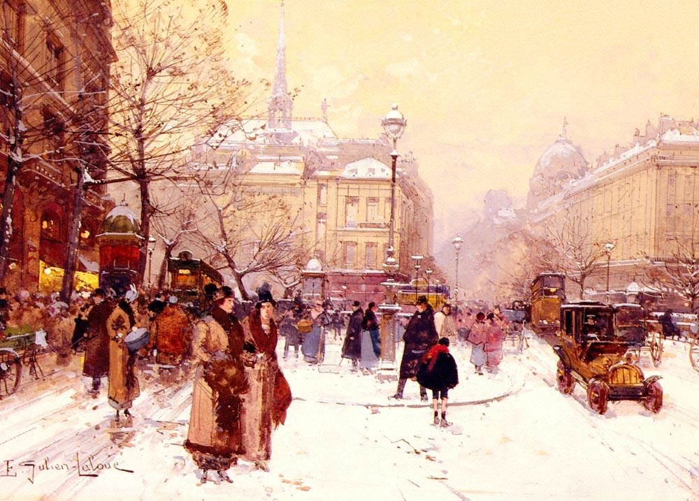 La Place Saint Michel | Eugene Galien-Laloue | Oil Painting