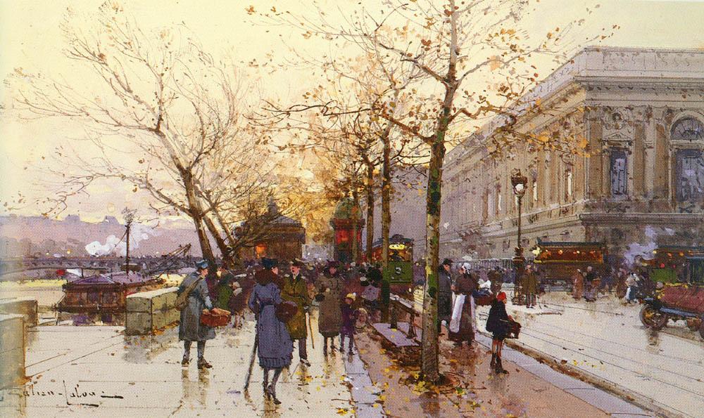 Les Quais De Paris | Eugene Galien-Laloue | Oil Painting