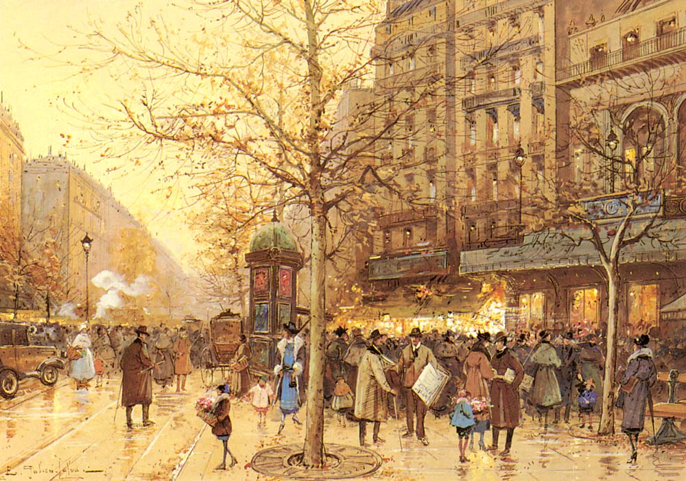 A Paris Street Scene | Eugene Galien-Laloue | Oil Painting