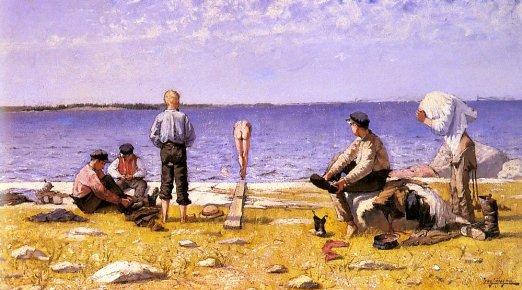 Boys On The Beach | Eugene Jansson | Oil Painting