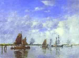 The Meuse At Dordrecht 1882 | Eugene Louis Boudin | Oil Painting