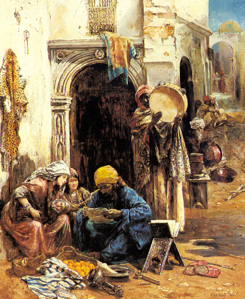 An Arab Bazaar | Eugene Pavy | Oil Painting