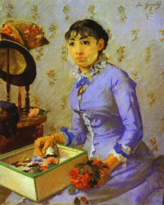 The Milliner 1877 | Eva Gonzales | Oil Painting