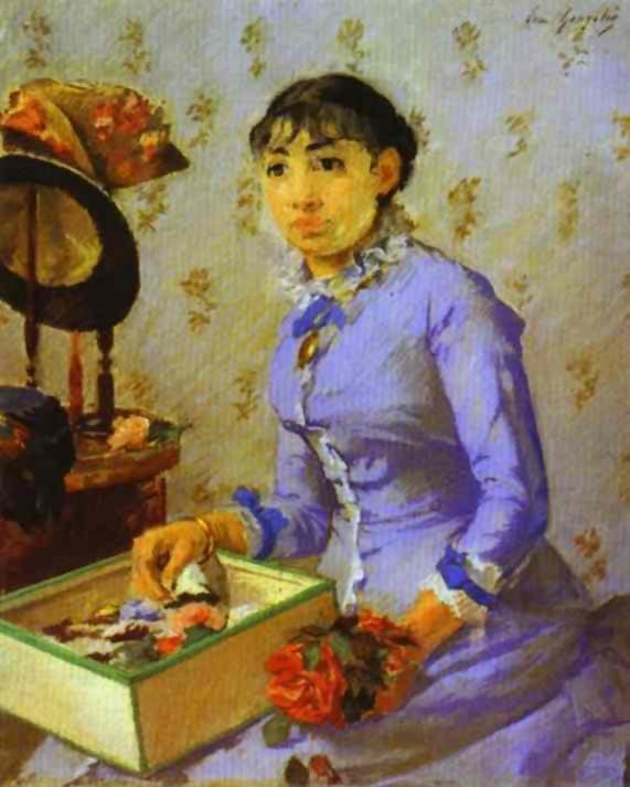 The Milliner 1877 | Eva Gonzales | Oil Painting
