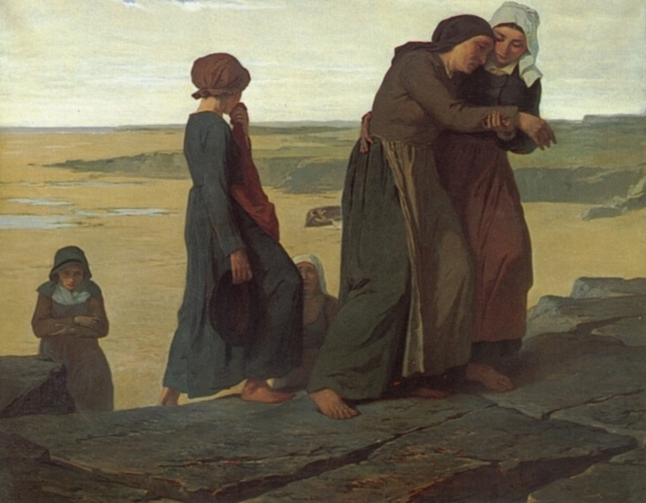 The Fishermans Family | Evariste Vital Luminais | Oil Painting