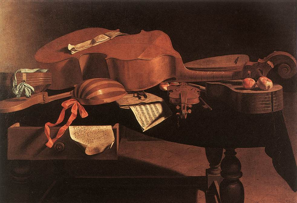 Musical Instruments | Evaristo Baschenis | Oil Painting