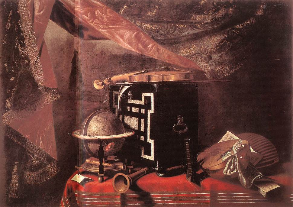 Still Life With Instruments 1667-77 | Evaristo Baschenis | Oil Painting