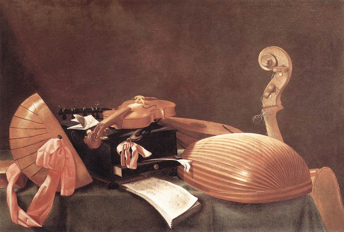 Still Life With Musical Instruments 1650 | Evaristo Baschenis | Oil Painting