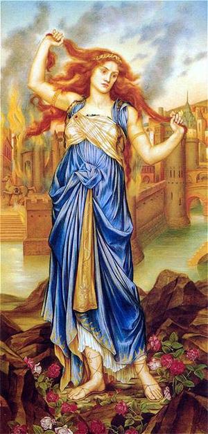 Cassandra 1898   Evelyn De Morgan   Oil Painting