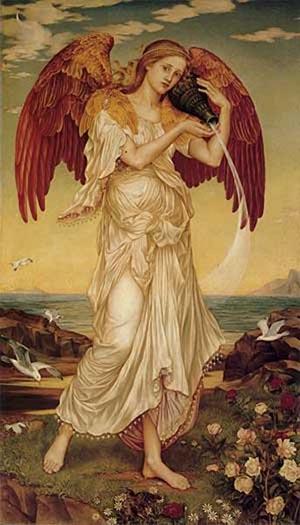 Eos 1895   Evelyn De Morgan   Oil Painting