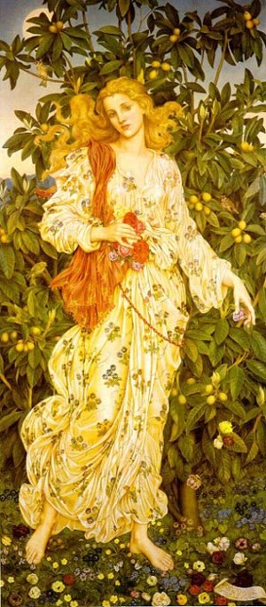 Flora 1894   Evelyn De Morgan   Oil Painting