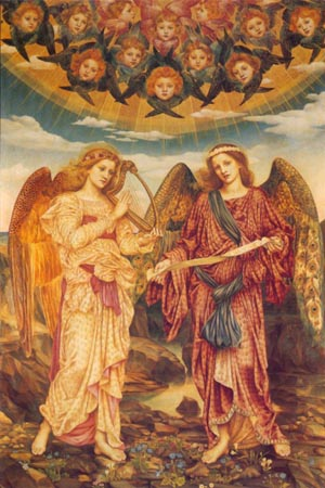 Gloria In Excelsis 1893   Evelyn De Morgan   Oil Painting
