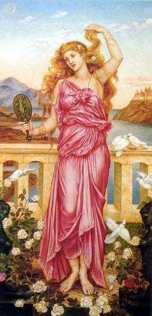 Helen Of Troy 1898   Evelyn De Morgan   Oil Painting