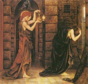 Hope In The Prison Of Despair 1887   Evelyn De Morgan   Oil Painting