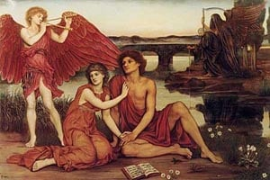 Loves Passing   Evelyn De Morgan   Oil Painting