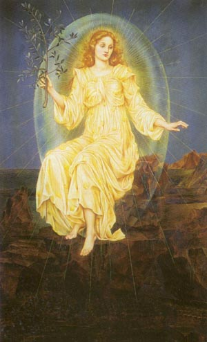 Lux In Tenebris 1895   Evelyn De Morgan   Oil Painting