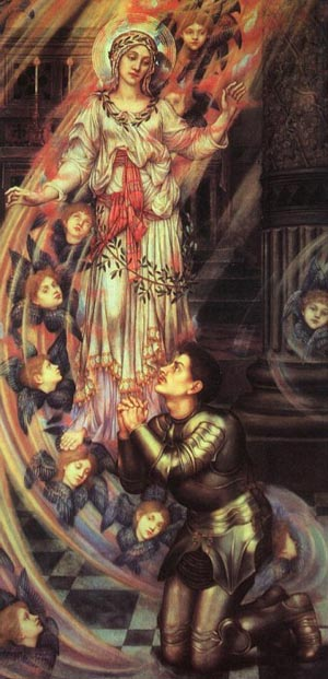 Our Lady Of Peace 1902   Evelyn De Morgan   Oil Painting